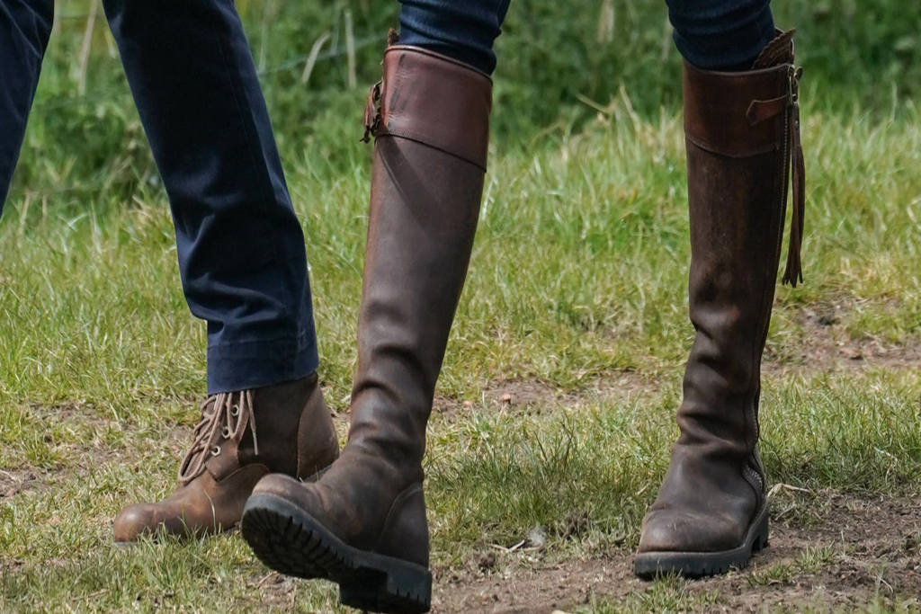 Kate Middleton, Brown Boots, Knee High Boots