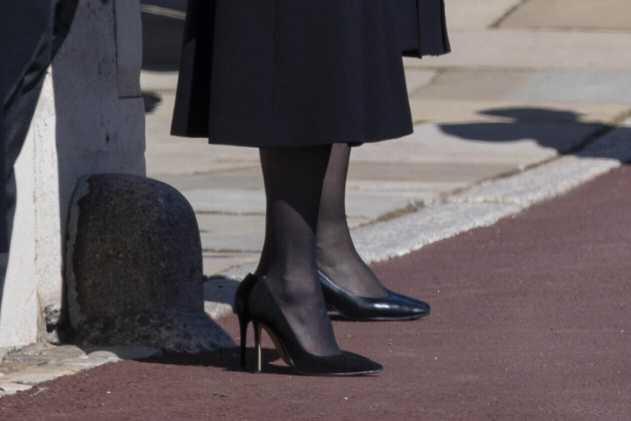 Kate Middleton, heels, Prince Philip funeral