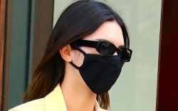 kendall jenner, yellow jacket, pants, dr