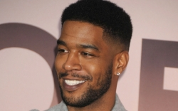 Kid Cudi, Gray Coat, Leather Pants