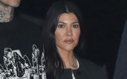 kourtney kardashian, crop top, sheer shirt,