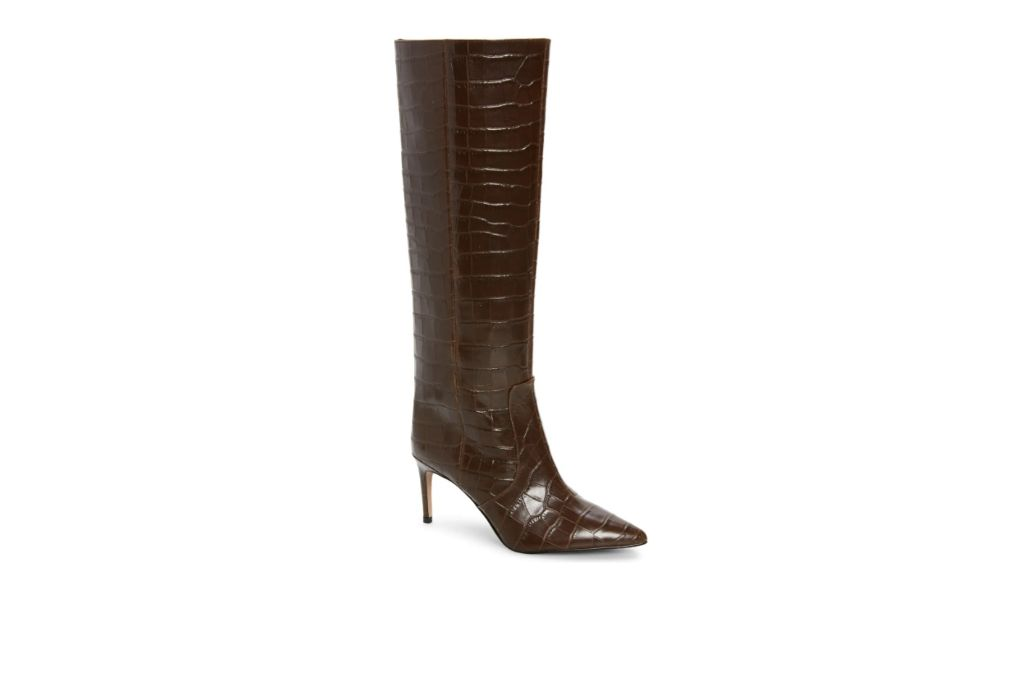crocodile boots, brown boots, knee high boots