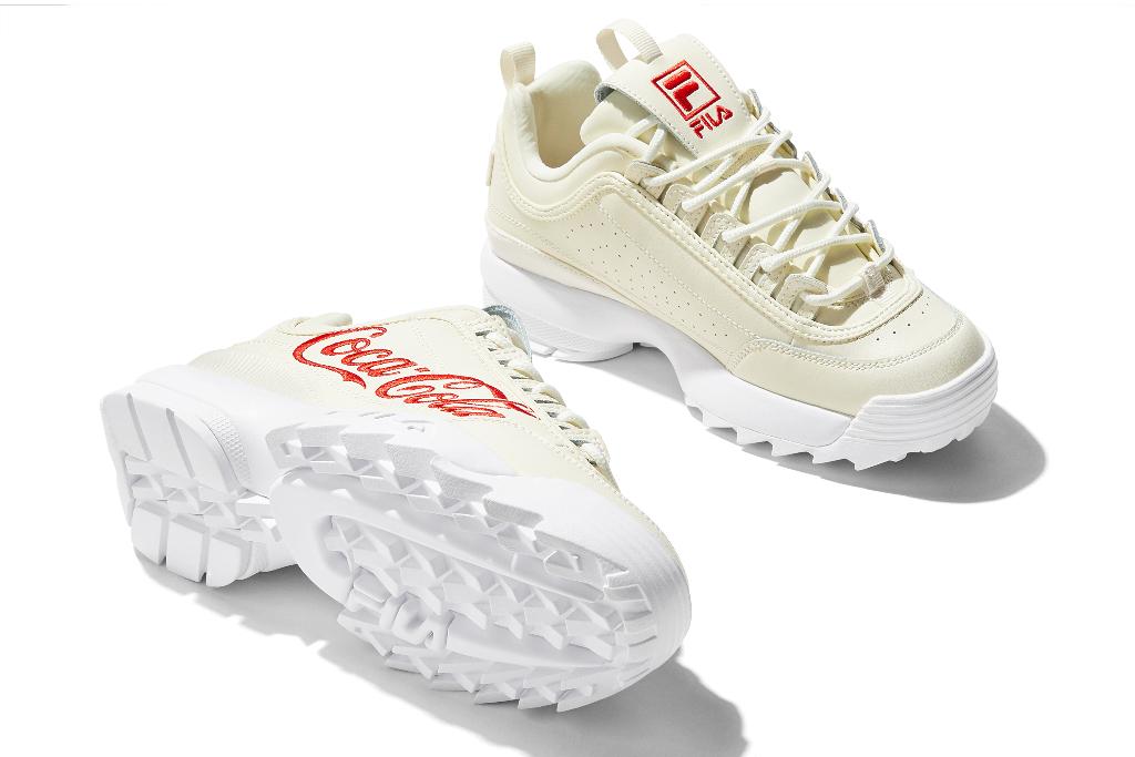 Coca-Cola x Fila Disruptor 2, Cream Sneakers