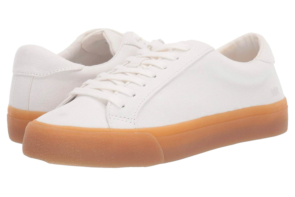 sneakers, white, gum sole, madewwell