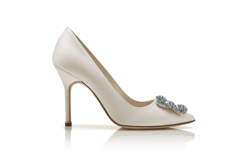 Manolo Blahnik Hangisi Bride, White Heels, Wedding Shoes