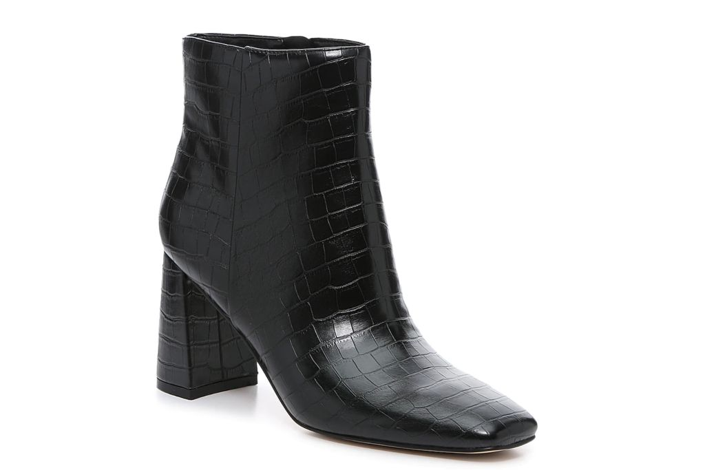 crocodile boots, black boots, booties