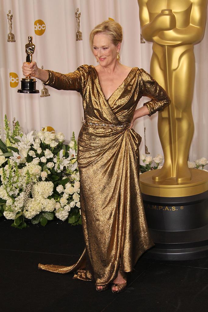 Meryl Streep, Lavin, alber elbaz, Oscars, 2012