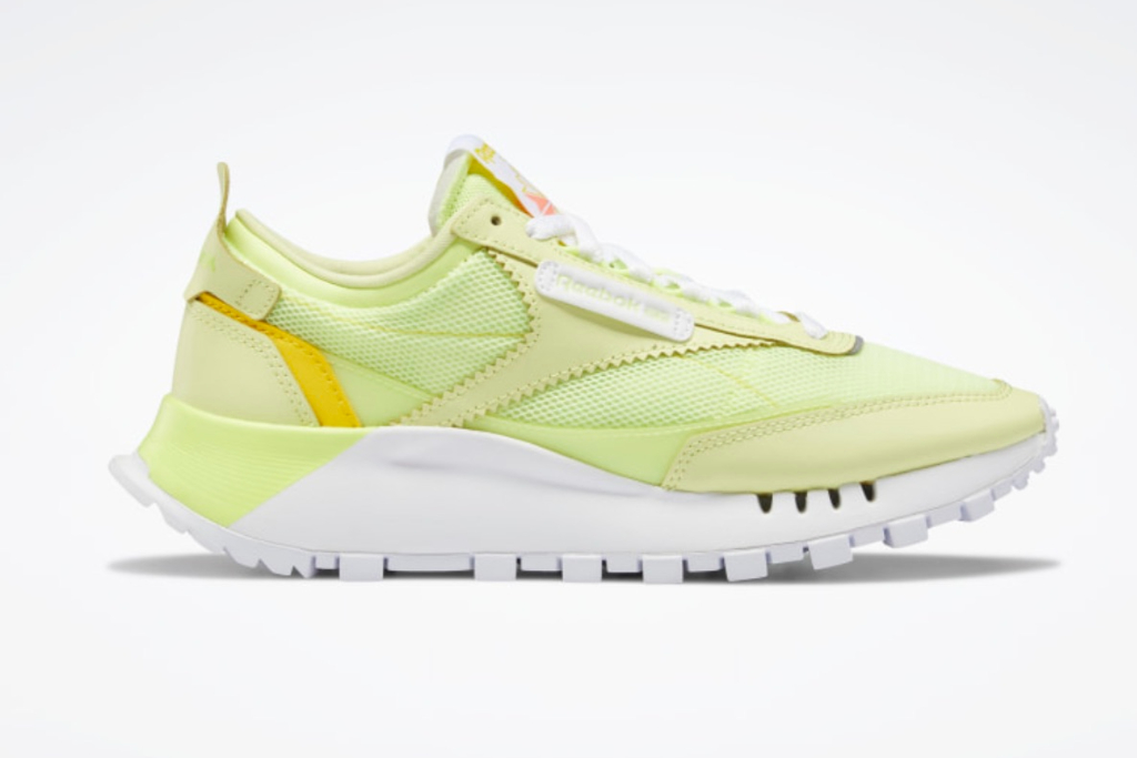 Reebok Classic Leather Legacy Shoes, Neon Shoes, Yellow Shoes