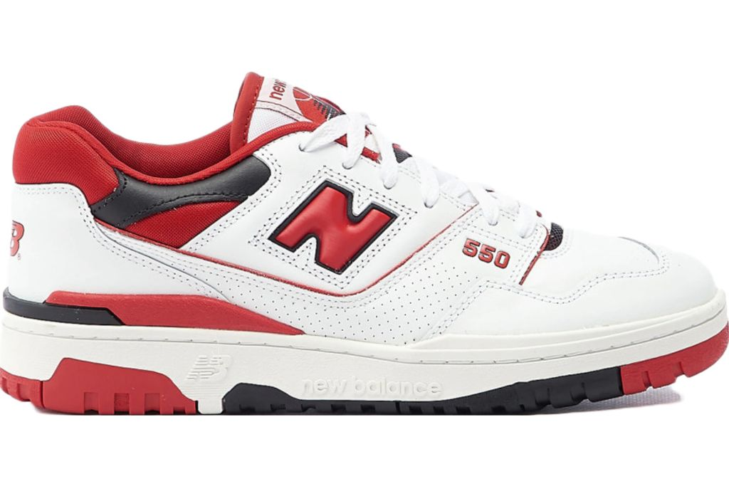 New Balance 550 White Red, New Balance Sneakers