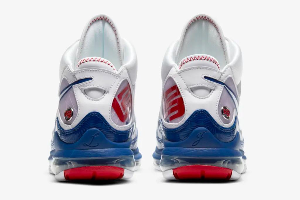 nike, lebron, lebron james, 7, baseball blue, white, red