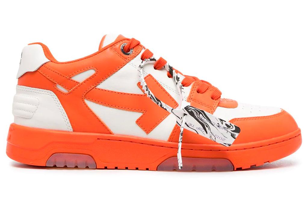 off-white, sneakers, orange, white
