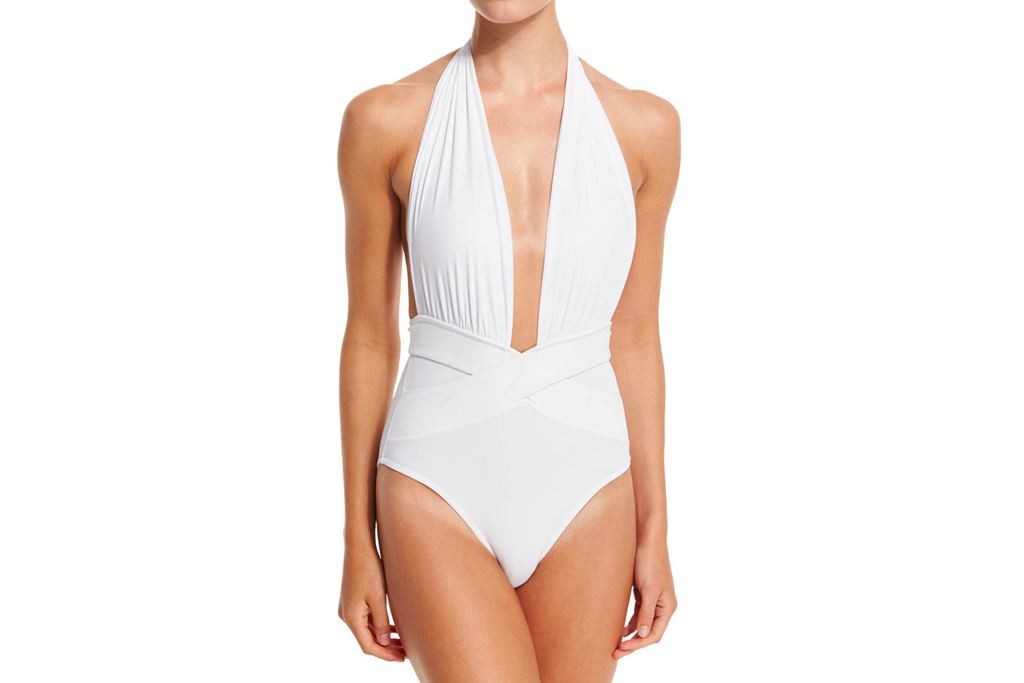 bathing suit, white, plunge, oye