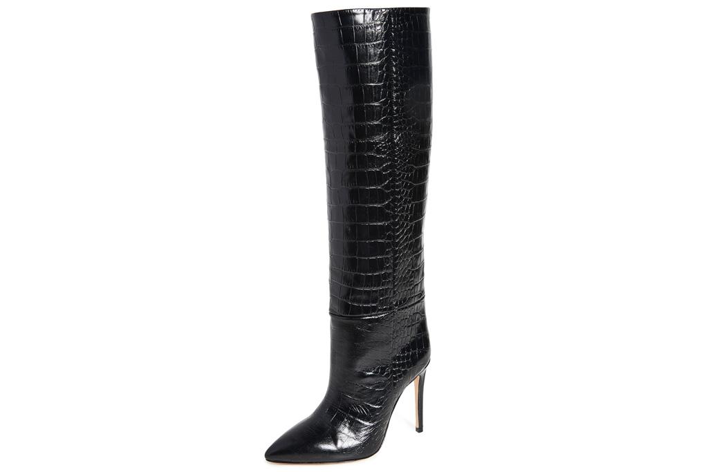 paris texas, boots, croc embossed, heel