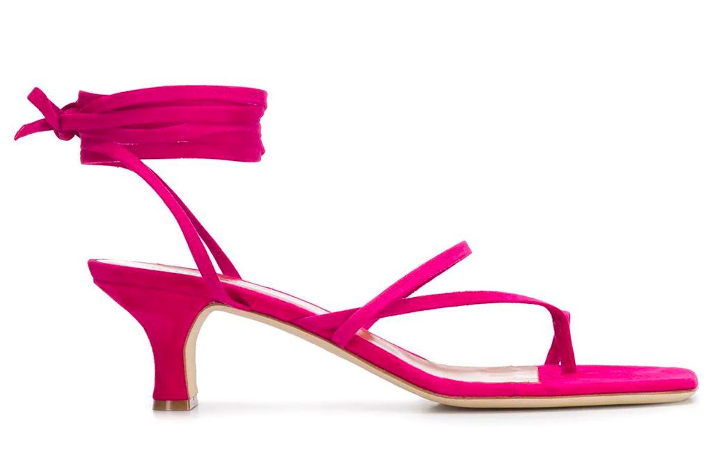 pink heels, sandals, wrap, paris texas