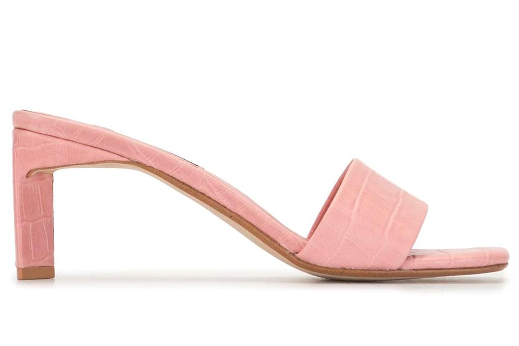pink heels, mules, senso