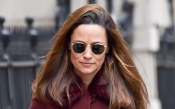 pippa middleton, dress, polka dot, coat,