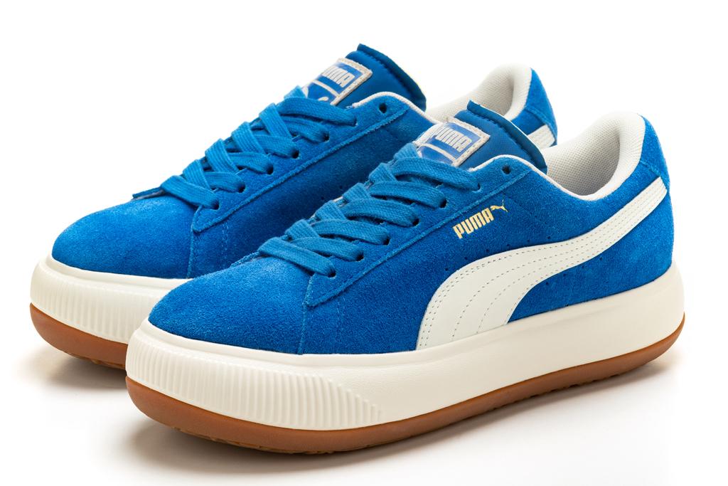 dua lipa, bodysuit, tights, latex, sneakers, puma, mayu, blue, campaign