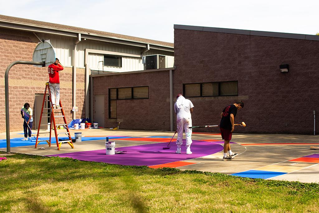 Reebok Hasbro Basketball Court Boys & Girls Club Atlanta Candy Land
