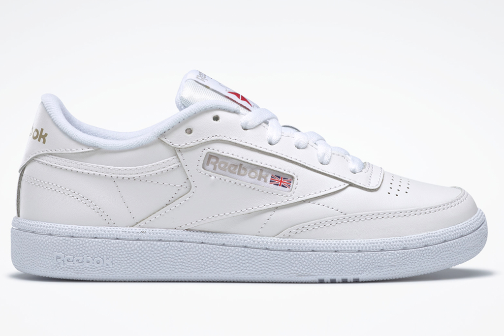 sneakers, white, leather, reebok