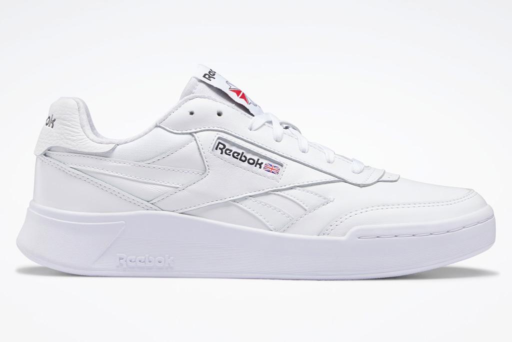 white sneakers, platform, chunky, reebok