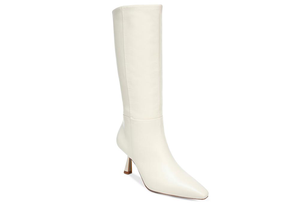 white, boots, knee-high, sam edelman