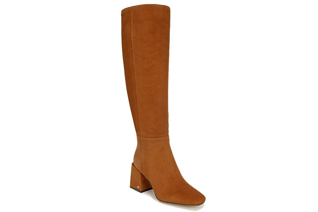 brown boots, suede, sam edelman