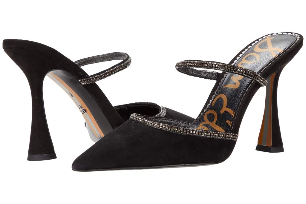 black mules, heels, sam edelman