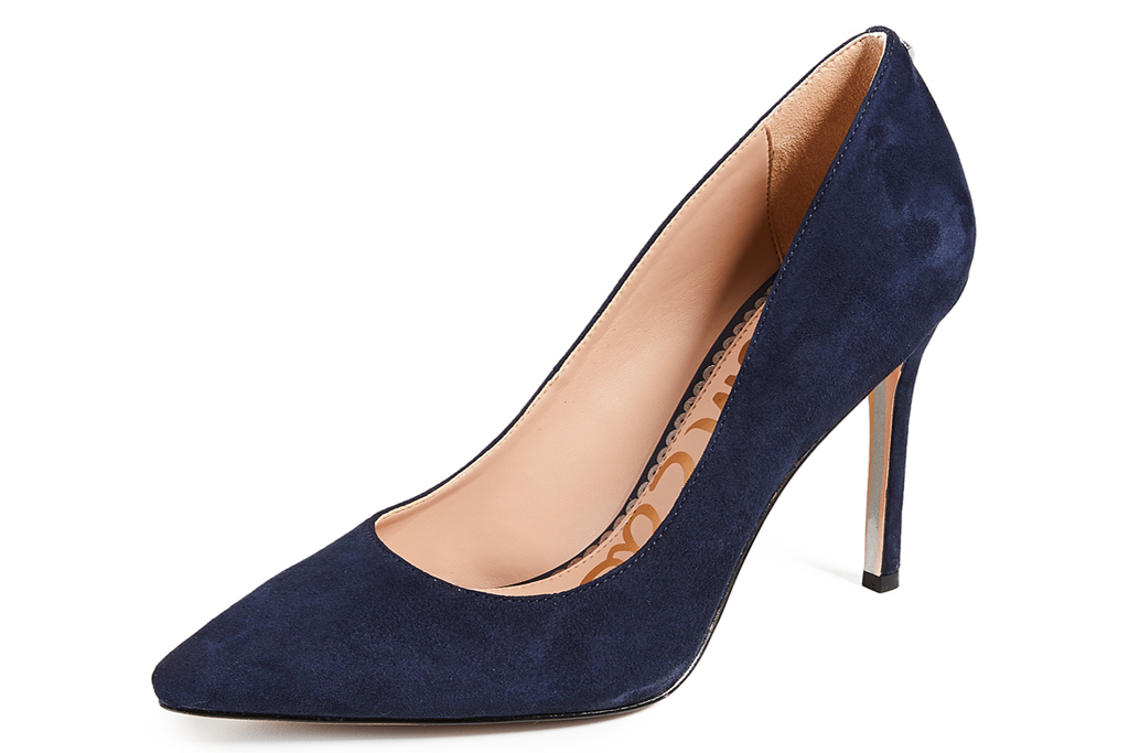 navy heels, pumps, sam edelman