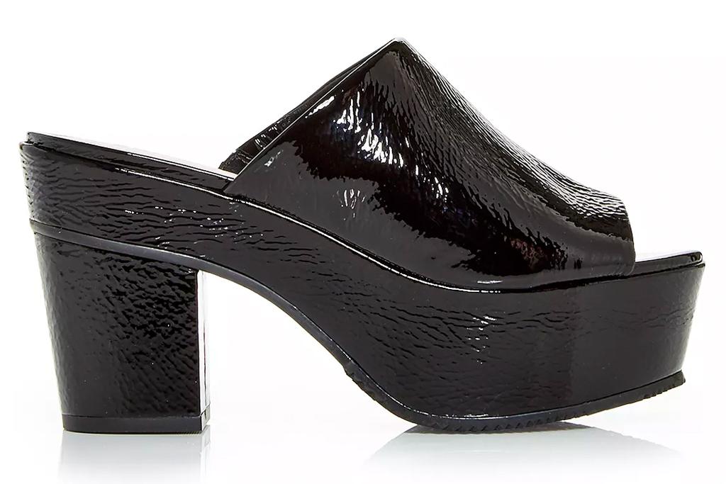 black mules, heels, platform, peep toe, schutz