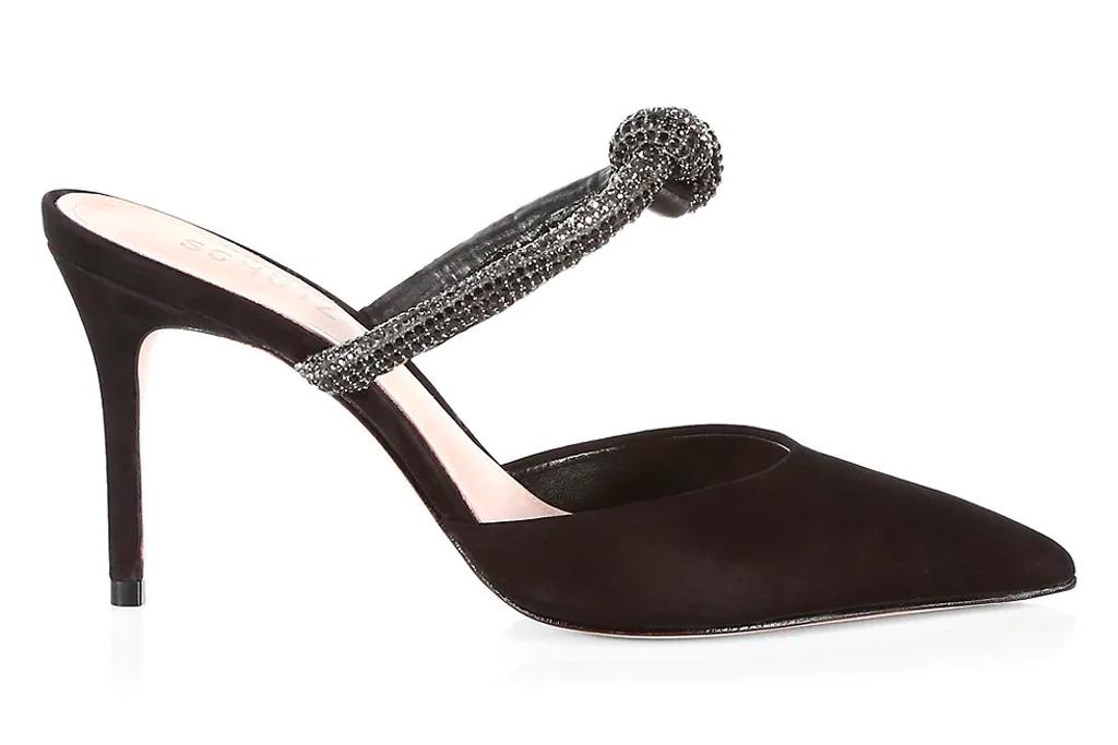 black mules, heels, schutz