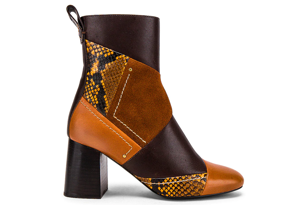 patchwork boots, boots, see by chloe