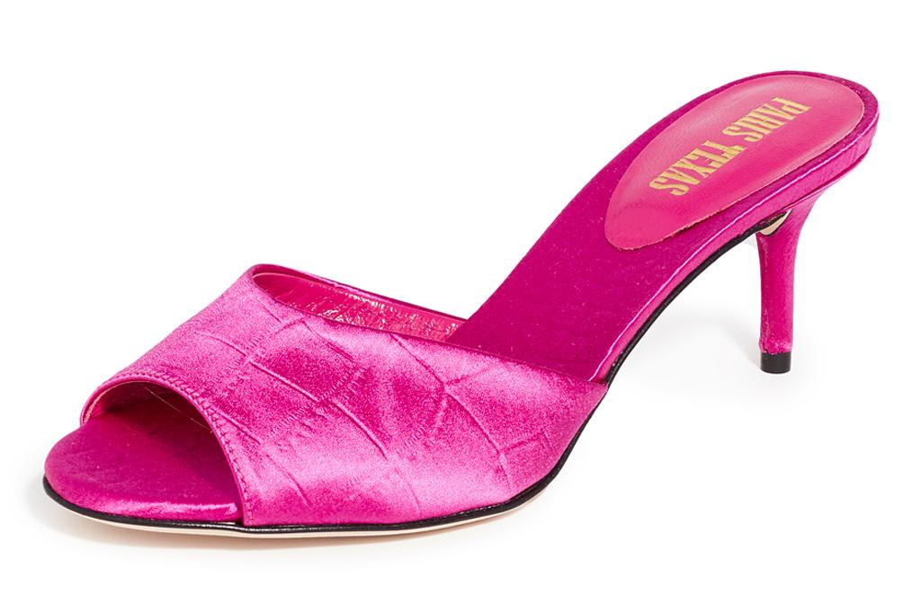 pink heels, mules, paris texas
