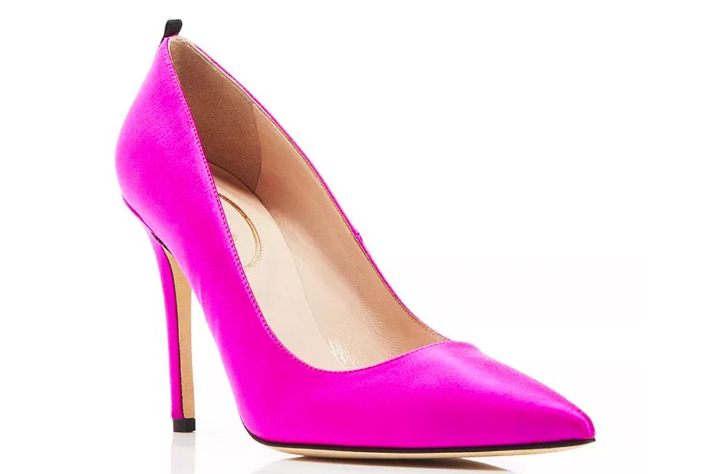 pink heels, pumps, sjp