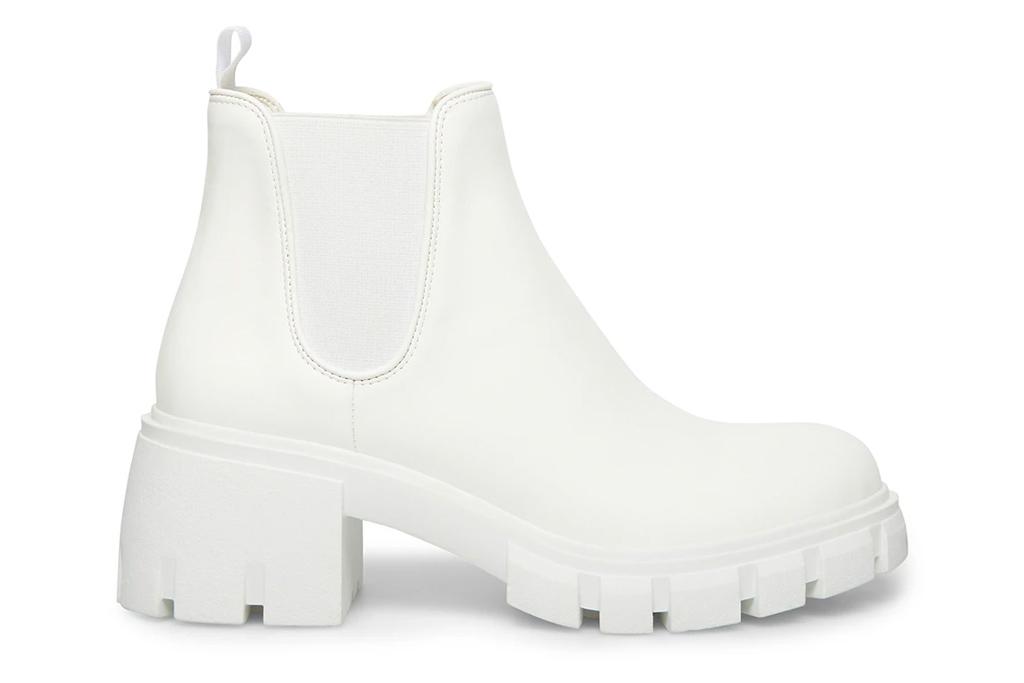 white boots, steve madden