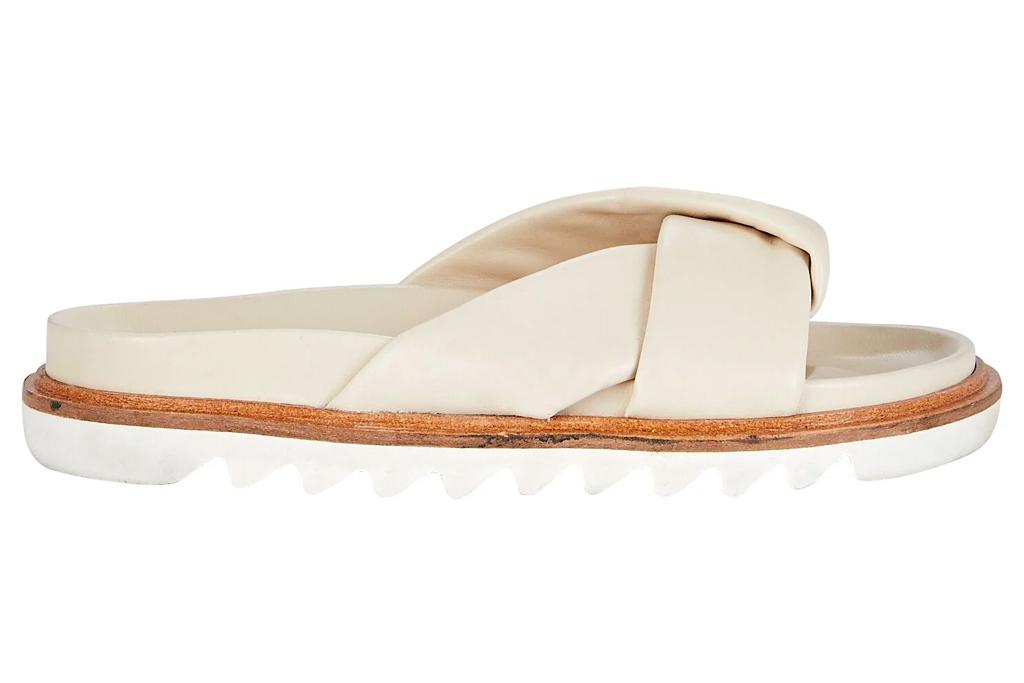 padded sandals, twisted, studio amelia