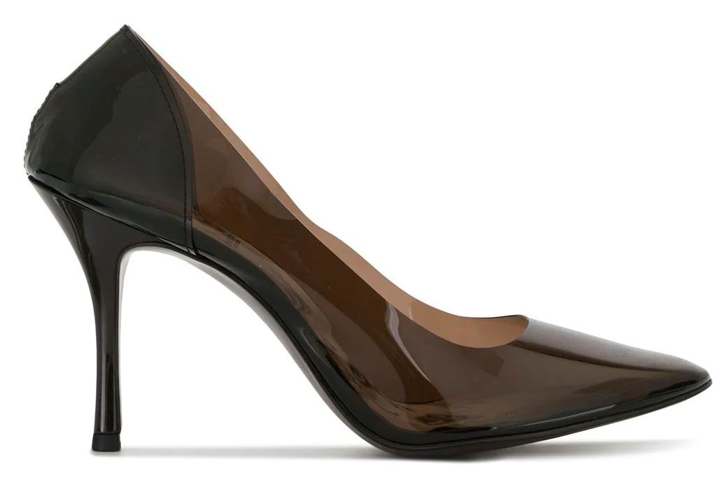 undercover, heels, transparent