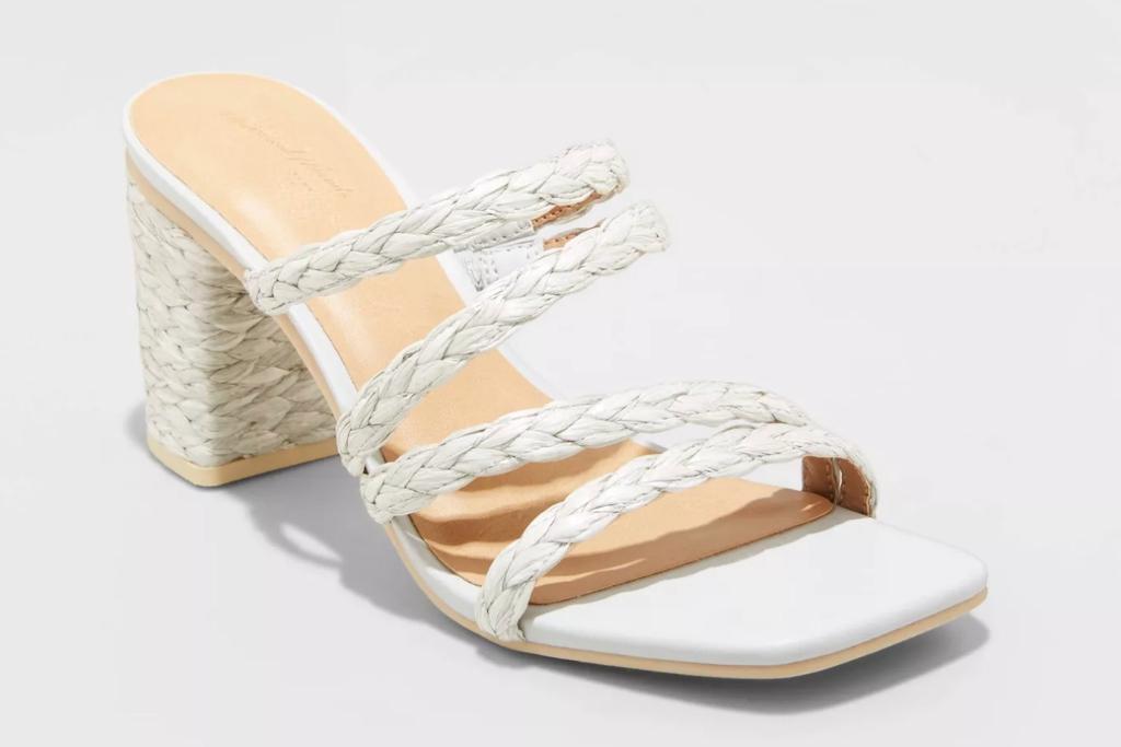 Universal Thread Claire Heels, Target Sandals, Straw Sandals