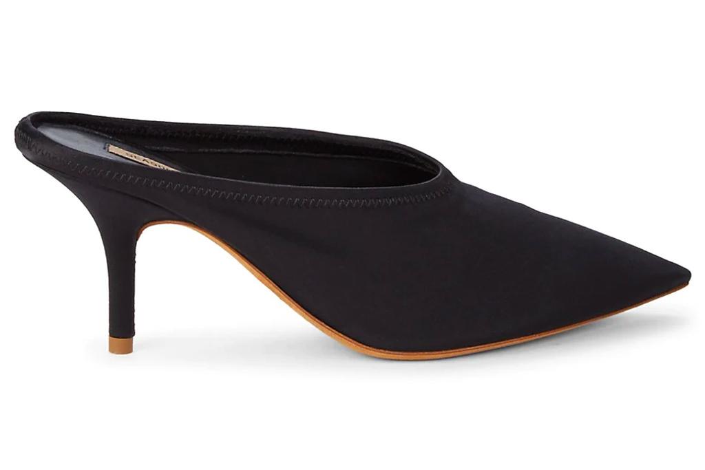black mules, heels, yeezy