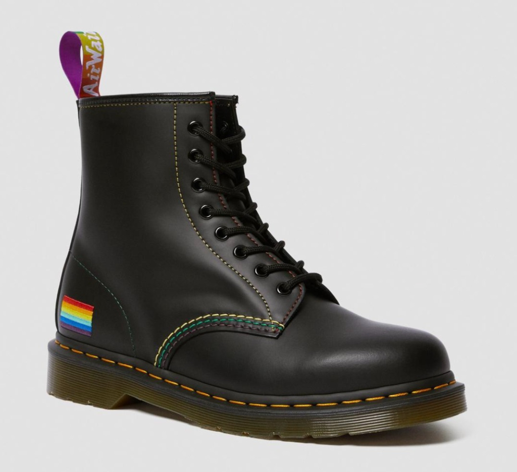 dr. marents, 1460 pride smooth leather lace up boots, pride collection