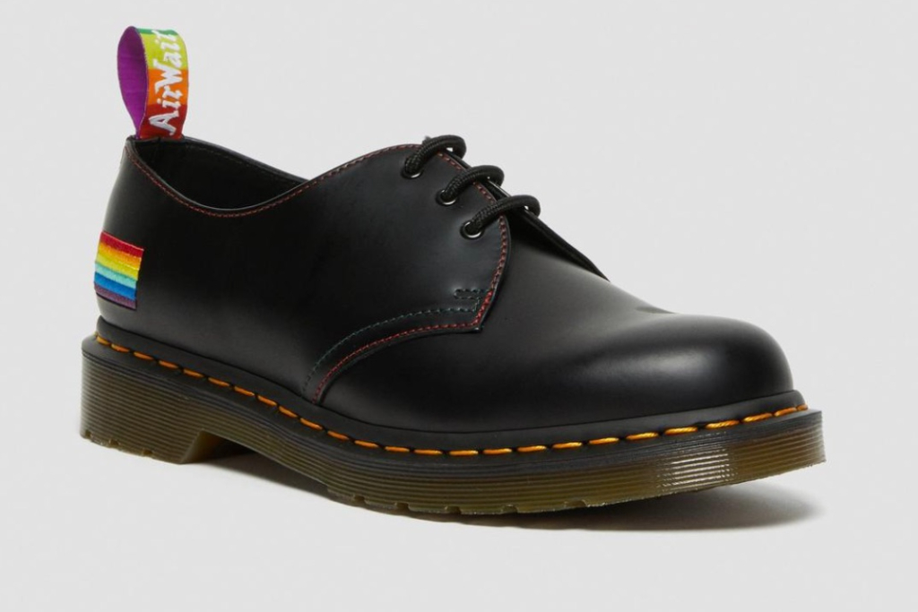 dr. martens, 1461 for pride smooth leather oxford shoes, pride collection