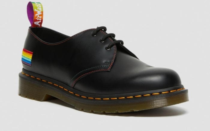 dr. martens, 1461 pride smooth leather oxford shoes, pride collection