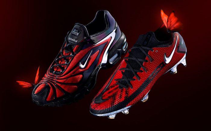 Skepta x Nike Air Max Tailwind 5 and Phantom Boot 'Bloody Chrome'