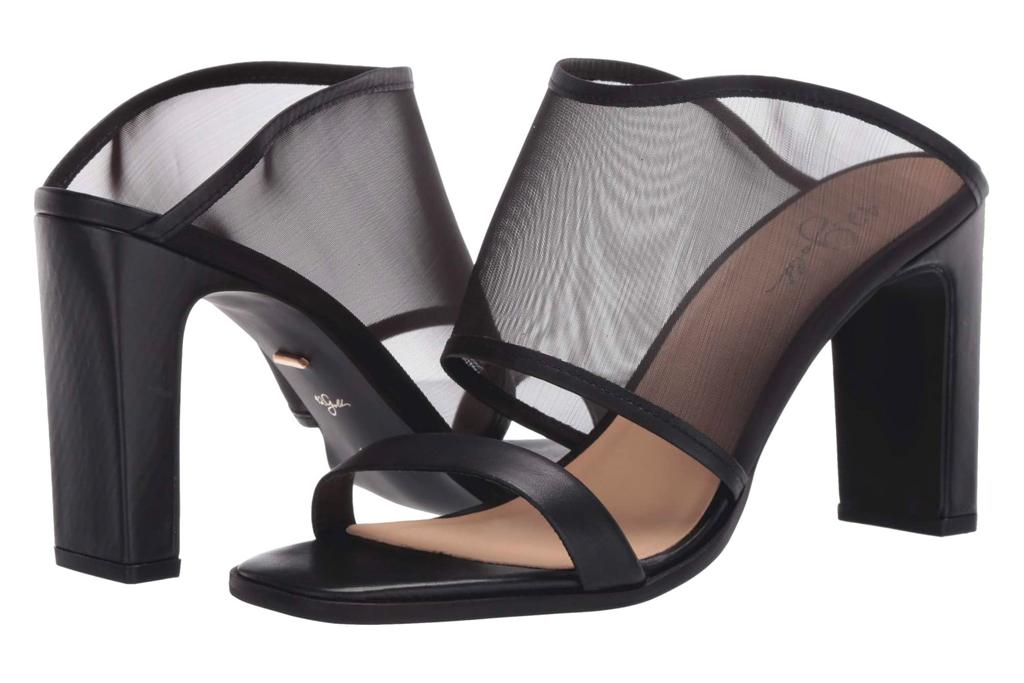 fishnet heels, black, mesh, 42 gold