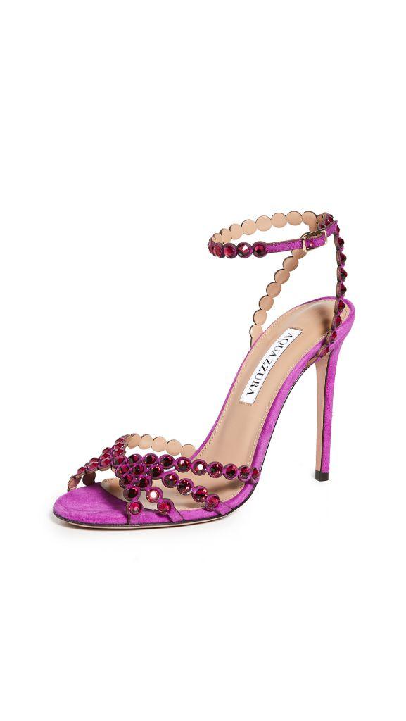 shoes, heels, high heels, shop high heels, amina muaddi, aquazzura, high heels to wear now, high heels are back