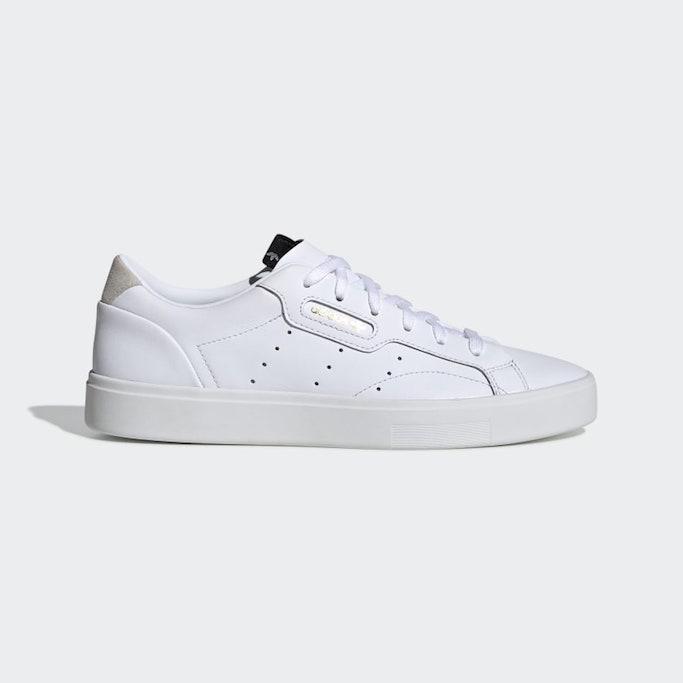 adidas, white sneakers