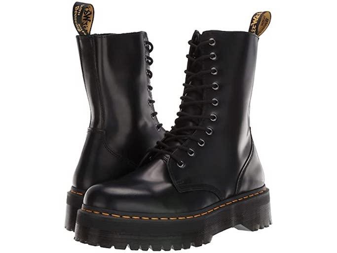 combat boots, lace up boots, black boots