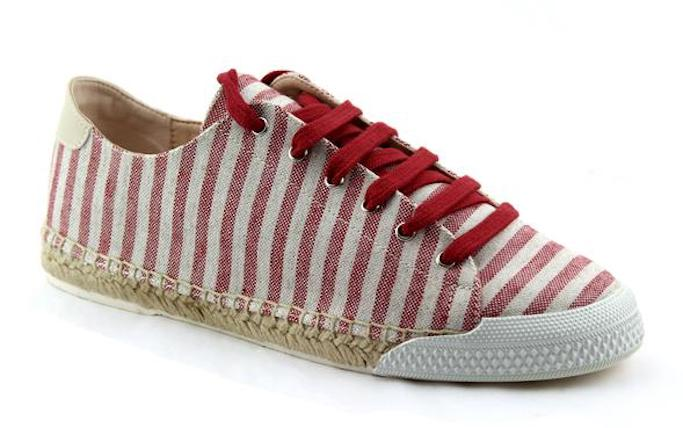 red stripe sneakers, french sole, nicky hilton