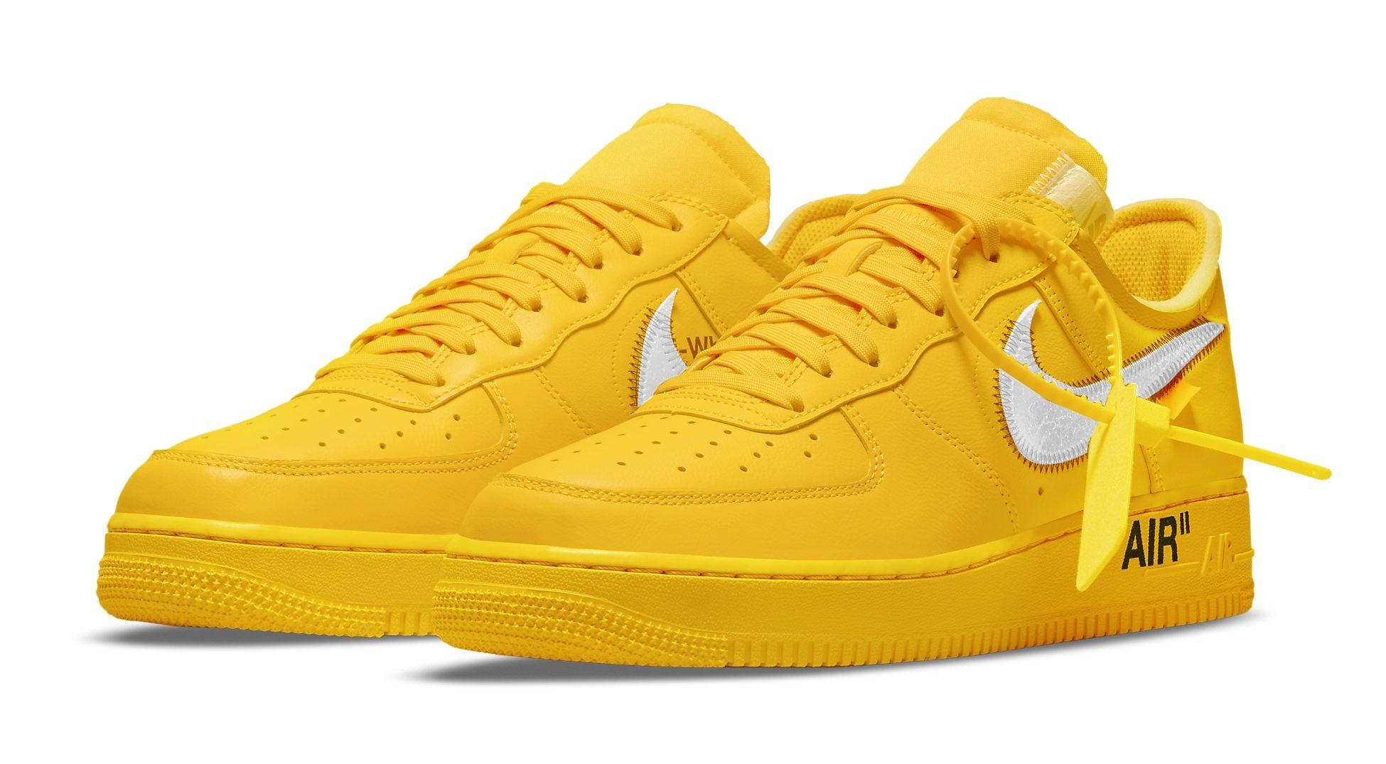 Virgil Abloh Off-White x Nike Air Force 1 Low 'Lemonade' Release ...