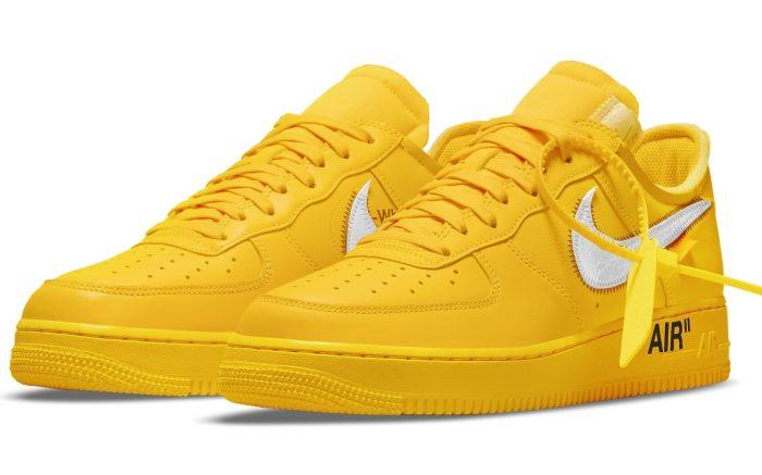 Virgil Abloh Off White X Nike Air Force 1 Low Lemonade Release Info Footwear News