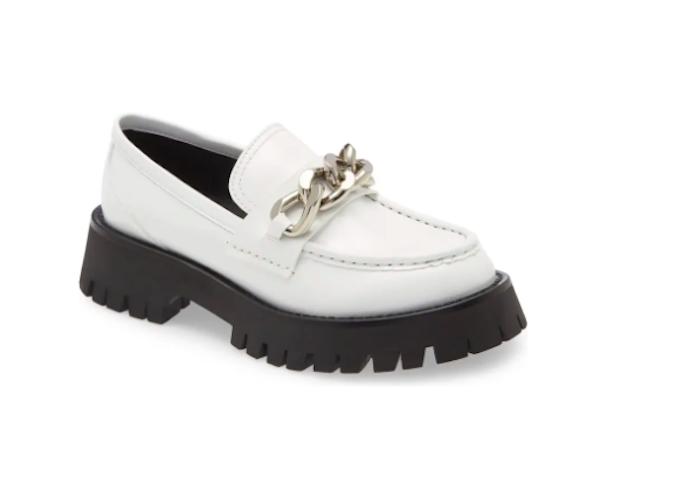 jeffrey campbell, white loafer, platform loafer, lug sole loafer